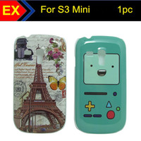 Wholesale 1PC Super deal Tribal Plaid Love Cat Flower Leopard Game Machine Effie Tower Hard Plastic Cover Case for Samsung Galaxy S3 Mini I8190 SS120