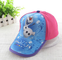 2014 New Fashion Frozen Anna & Elsa Children Girls Caps ...