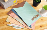 Wholesale world map document pouch simple A4 paper portfolio in