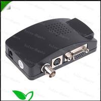 Wholesale Welcome BNC to VGA Converter box CCTV S Video BNC to VGA Video PC Converter Adapter TSQ25