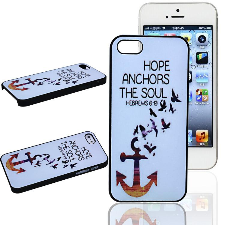 Buy New Fashion Birds Anchor HOPE ANCHORS Design Hard Plastic Mobile Protective Phone Case Cover Iphone 4 4S 5 5S 5C