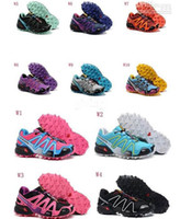 Wholesale 2014 HOT WOMEN s Salomon Nordic walking jogging New Arrival Colors Sport alomon Running shoes Sneakers china Post Air Mail