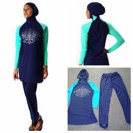 Wholesale 2016 new Burkini Modest SwimSuit Full Cover Hijab Swimwear women muslim swimwear