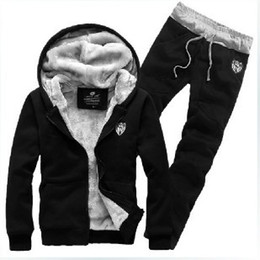 Wholesale 2014 Spring winter comfort single copper metal zipper design Men s suit Fleece sweater pants hoodies sport set