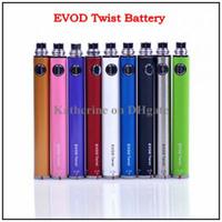 эга EVOD-Twist батареи Красочные Twist Батарея 650mAh 900mAh 1100mAh 1300mAh для CE4 CE5 СЕ6 Электронная сигарета E сигареты E-CIG батареи