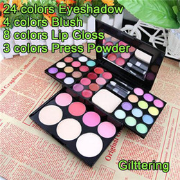 Wholesale Professional Makeup Palette Contains eyeshadow blusher Press Powder lipstick mirror Makeup Kit CZH003