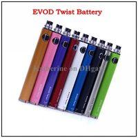 Wholesale E Cigarette EVOD Twist Battery EVOD Twist Variable Voltage Battery mah mah mah mah for EVOD MT3 Electronic Cigarette Battery