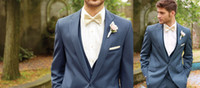 Wholesale Handsome Custom Made Groom Tuxedos Best Mam Suit Wedding Groomsman Men Suits Bridegroom Jacket Pants Tie Vest Cheap Sale