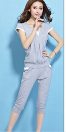 Wholesale 2014 new short sleeved summer leisure ladies suits