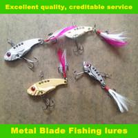 fishing tackle lures - New Design VIB Fishing lures CM G hooks VIB009 fishing tackle vibrator Lure Bait Spoon Metal Lures