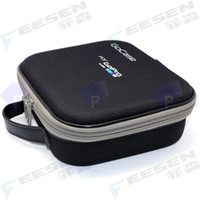Wholesale Portable EVA Carry Case GoPRO Camera Bag Carry Box For GoPro Hero HD Middle Size Black Color Shockproof