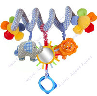 Wholesale Baby Cute Music Multifunction Toy Kid Crib Round the Bed Hanging Elephant animal Toys SV000340