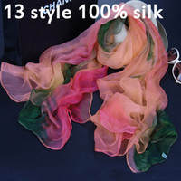 hand painted silk scarf - 100 silk silkworm silk hand painted women scarf sunscreen shawl lady high quality silk scarves styles new arrivel