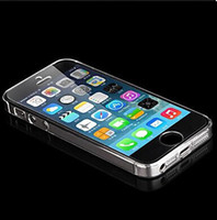 Cheap Wholesale Cheap Solid Color Transparent Back Phone Case for i Phone5 5s Free shipping