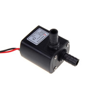 Wholesale 50PCS Ultra quiet Mini DC V Micro Brushless Water Oil Pump Submersible L H W Lift M H10448 DHL Free