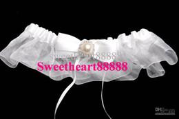 Wholesale MIC New Ivory Satin Pearl Beading Bow Bridal Garter Wedding Ceremony