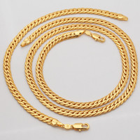 Wholesale New Trendy K Stamp Necklace Set Men Jewelry K Real Gold Plated Chain Necklace Bracelet African Jewelry Sets S374
