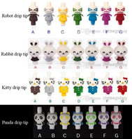 Wholesale 510 plastic animal drip tips Hello kitty panda rabbit bunny robot drip tip e cigarette fit on ego ce4 ce5 dct atomizer rda mephisto omega d