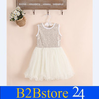 Wholesale- Baby Girls Princess Party Dresses Summer Sleeveles...