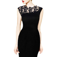 Wholesale S5Q Lace Bodycon Pencil Dress Sexy Women Stretch Cocktail Evening Clubwear Party AAADPO