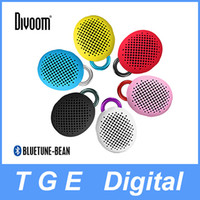 Cheap Divoom Bluetune Bean Outdoor Portable Bluetooth Music Sound Speaker with Mic for iPhone,Samsung , iPad and more 6 Color