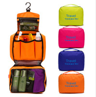 Wholesale New Good Quality Travel Bag Waterproof Breathable Fold Travel Toiletry Kits Hanging Colors