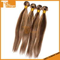 100g/pc Peruvian Hair Piano Color 4 27 Ombre Hair Hot Remy Hair Weft 5A Straight Piano Colored 4 27 Hair Weaving 16 18 20 22 24 26 Inches In Stock Peruvian Virgin Hair Extension