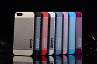 Wholesale For iPhone S Hot MOTOMO Metal Aluminium Alloy PC Case Luxury Cell Phone Cases Hard Back Cover with Opp Pack For Men Colors