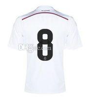 wholesale china jersey - 2014 New Cheap Soccer Jersey White Home Season Short Sleeves Kroos Jerseys Soccer Kits Tops Cheap Soccer Jerseys From China