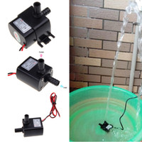 Wholesale 30pcs Ultra quiet Mini DC12V Micro Brushless Water Oil Pump Submersible L H W Lift M H10448