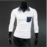 Cheap free shippingWholesale trade little hot new men's Slim collar long-sleeved 11B-P10