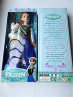 Unisex 5-7 Years Plastic 2014 Hot sale item 11.5 inch Frozen Figure Play Set Elsa Classic Toys Frozen Toys Dolls with snowman olaf for girls kids gifts