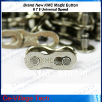 Wholesale Practical Mountain MTB Road Bike Chain Buckle of KMC Chain Magic Buckle Speed Magic Button Silver