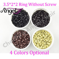 Wholesale 1000pcs bottle color mm Smallest Micro Ring Links Beads tools Without Screw of aluminium for I Tip Hair Extension Black Blonde etc