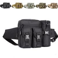 Wholesale Camouflage belt water bottle waist pack outside sport small waist pack ride water bottle bag multifunctional travel waist pack