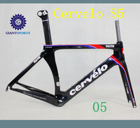 Cheap Cervelo S5 VWD Bike Frame set Aero Tube Carbon Bike Frameset Bike Size 48,52,54,56 Cervelo RCA R5 BBright DI2 full carbon Fiber Road Bicycle