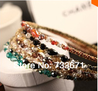 Cheap Free shipping 2014 Ks Style Fashion Jewelry For Women Crystal Hairbands Glitter Headbands Hair Accessories xth244