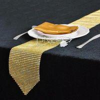 Wholesale Elegant diamond Crystal Rhinestone sparkling Table Runner wedding party decoration favor wa047