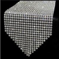 table - 12 cm diamond Crystal Rhinestone sparkling Table Runner wedding party decoration favor wa047