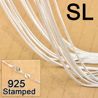 Wholesale Factory Price quot Sterling Silver Jewelry Link Snake Necklace Chains With Lobster Clasps For Pendant