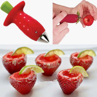 Wholesale Strawberry Berry Stem Leaves Huller Gem Remover Removal Fruit Corer Kitchen Tool