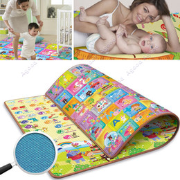 Wholesale Baby Kids Children s Learning Math Two sided Crawling Pad Beach Picnic Mat Outdoor Blanket Dampproof SV001316