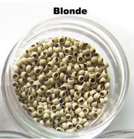 Wholesale 1000 Nano Micro rings for stick tip hair and Micro loops human hair extension Black Brown Blonde size mm
