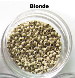 Discount nano micro loop hair extensions 1000 Nano Micro rings for stick tip hair and Micro loops human hair extension Black Brown Blonde size 2.5mm