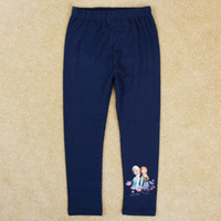 Cheap frozen elsa leggings pants 2015 kids leggings toddler solid color leggings girls navy leggings baby tights nova G5237Y