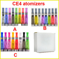 Non-Replaceable 1.6ml Plastic Ego CE4 Clearomizer Atomizer Cartomizer ce5 ce6 tank 1.6ml Vaporizer for ego-t ego-k ego-c battery e cigarette starter kit 8 colors