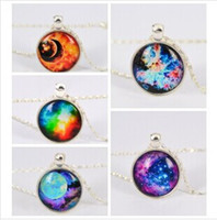 Wholesale colors European and American fashion Charm pendant necklace silver gemstone jewelry necklace time