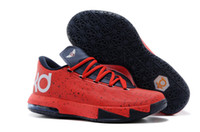 Football Flat Men Red Trail Running Shoes KD VI Kevin Durant 6 Mens Sneakers Top Quality Shoes Cheap Jogging Shoes Sports Shoes Players Basketball Shoes