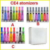 Electronic Cigarette Atomizer tell us the colors Ego CE4 Clearomizer Atomizer Cartomizer ce5 ce6 tank 1.6ml Vaporizer for ego-t evod battery e cigarette e cig starter kit