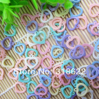 acrylic pendants jewelry making - 2014 New mm Mixed Color beads Acrylic Charms Lovely Heart Pendant for DIY Jewelry Making